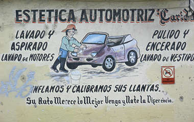 commercial mural painting sign car wash