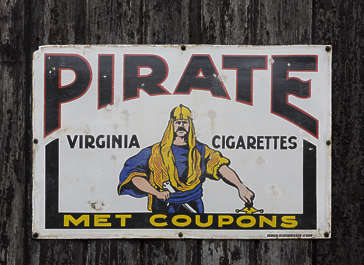 advertisement cigarettes pirate