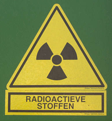 sign warning radioactive danger isolated
