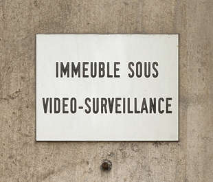 sign camera survaillance french france
