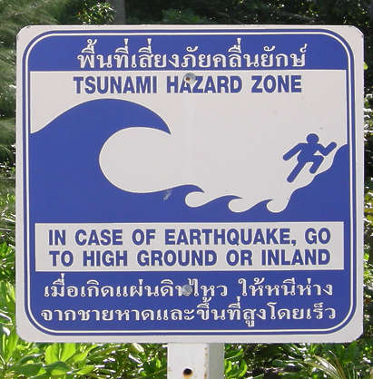 SignsDrowning0003 - Free Background Texture - sign warning tsunami