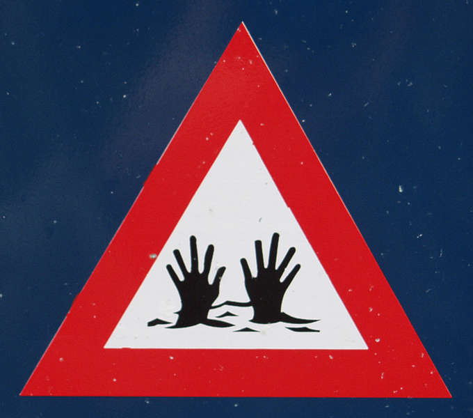 Signsdrowning0001 Free Background Texture Sign Danger