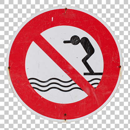 sign dive diving water
