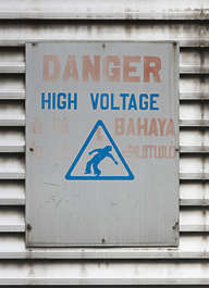 china danger high voltage