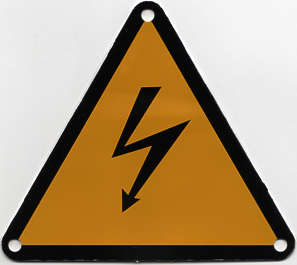 sign danger high voltage shock