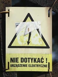 sign danger electricity