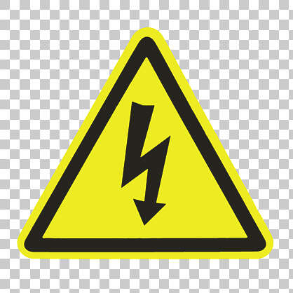sticker electricity sign high voltage danger
