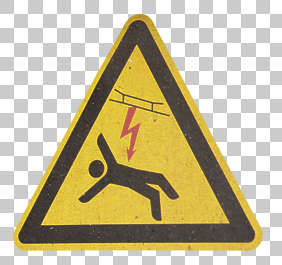sign warning high voltage shock deadly isolated masked alpha