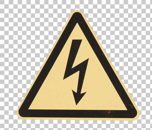 sign danger high voltage lightning shock isolated
