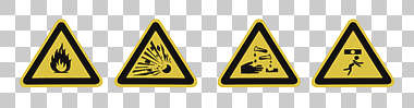 sign danger fire explosion acid corrosive crush fall