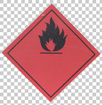 sign warning fire sticker flame isolated