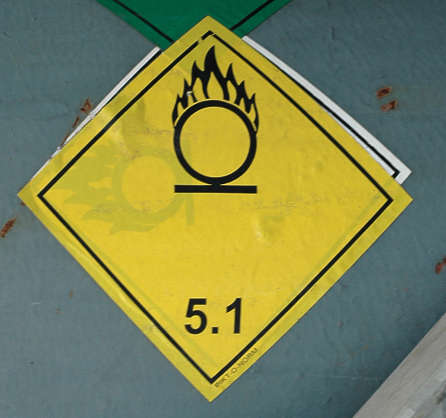 sign warning flammable explosive
