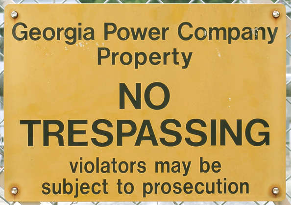 sign trespassing