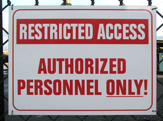 sign restricted access