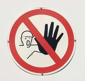 sign safety warning gloves hand stop