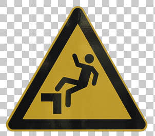 sign signs warning danger fall isolated