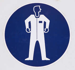 sign suit protection clothing