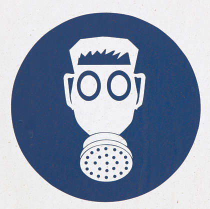 sign danger gas mask