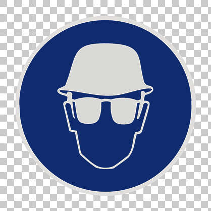 sign safety warning goggles glasses eye protection helmet head hardhat isolated masked alpha