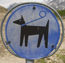 sign pet dog round