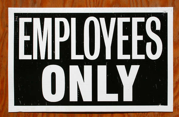 sign employees only