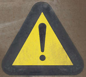 sign sticker warning attention exclamation isolated