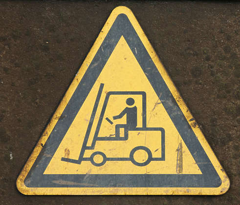 sign forklift danger
