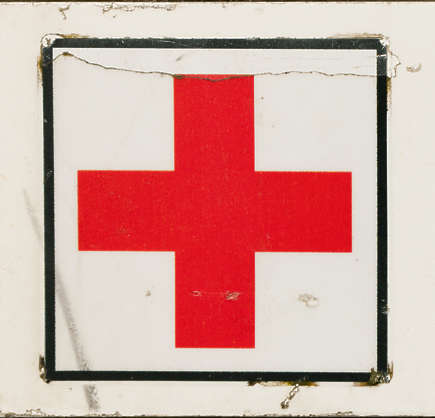 sign first aid cross