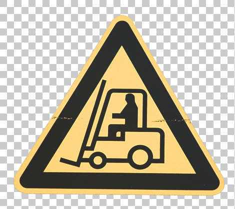 sign warning forklift