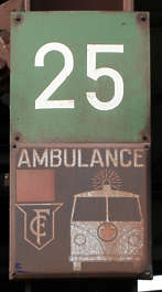 sign warning ambulance