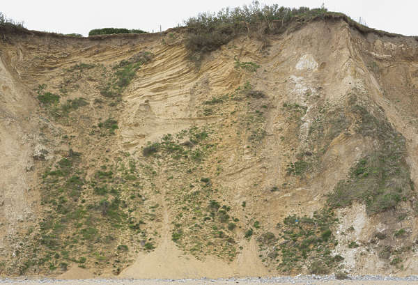 UK soil cliff earth grassy