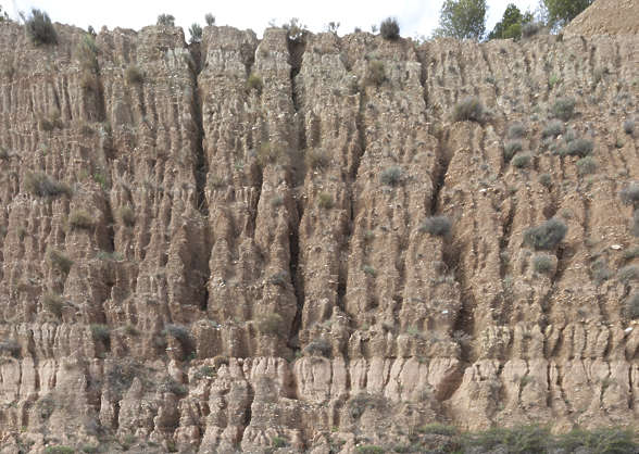 cliff earth dry spain