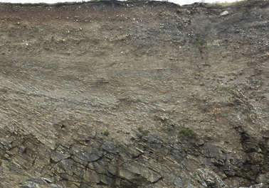 UK soil cliff earth