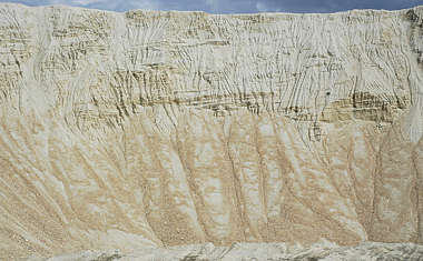 sand earth cliff rough quarry