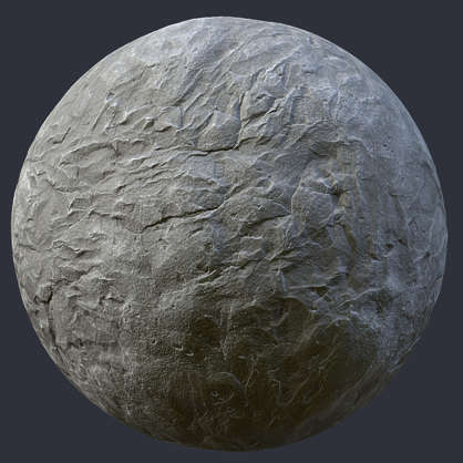Substance shader customizable material PBR concrete rough old worn damaged
