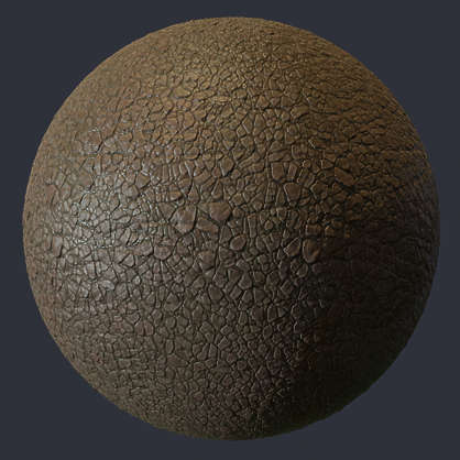 Substance material shader PBR leather rough old worn skin lizzard dragon