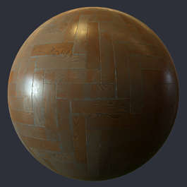 Substance material shader PBR parquet floor wood oak birch shiny new clean herringbone
