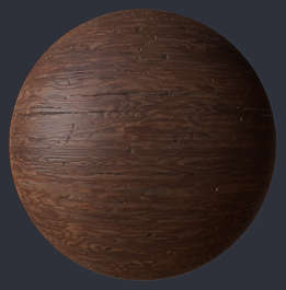 Substance material shader PBR wood old worn