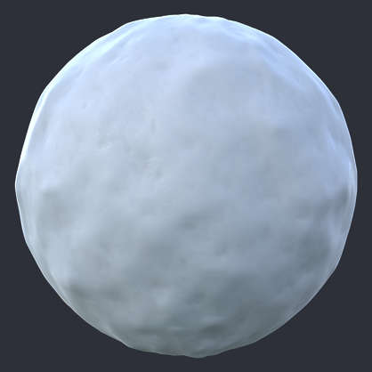 Substance material shader PBR snow