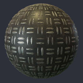 Substance material shader PBR metal floor threadplate thread plate tear painted bare customizable