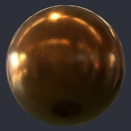 Substance material shader PBR copper old hammered metal shiny customizeable