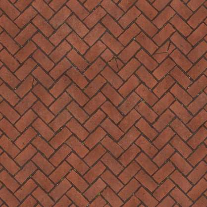 substance shader material herringbone street cobblestone pavement floor old temple brick