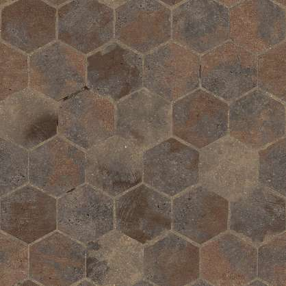 substance shader material street cobblestone pavement floor old temple brick hexagon