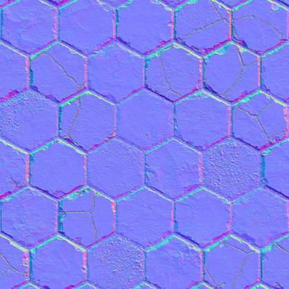 Hexagon pattern floor s0042 for Floor normal map
