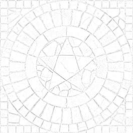 substance shader material street cobblestone pavement floor old temple brick circle pentagon