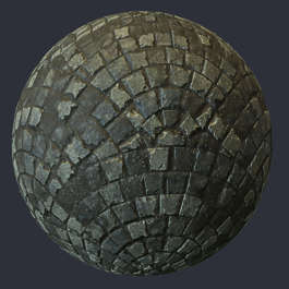 substance shader material street cobblestone pavement floor old temple brick waver wafer