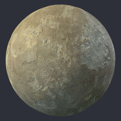 Substance shader customizable material PBR concrete painted worn old damaged brown plaster wall