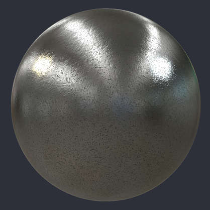 Substance material shader PBR medieval metal stainless pitted worn shiny bare spots
