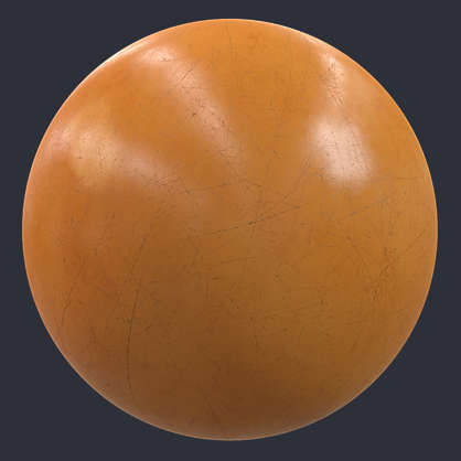 Substance material shader PBR plastic shiny scratched scratches worn