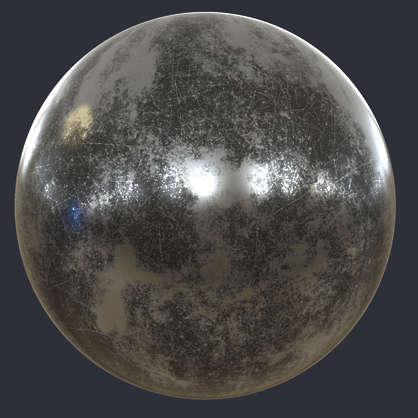Substance material shader PBR gun metal worn bare base steel paint scratches scratch old